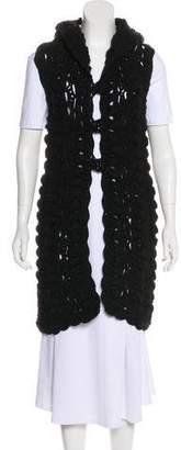 Chanel Hooded Crochet Vest