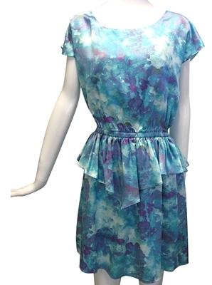 Whitney Eve - Women's Blue & Purple Cap Sleeve Dress