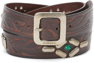 Diesel (ディーゼル) - DIESEL スタッズ デザイン ベルト ブラウン 85