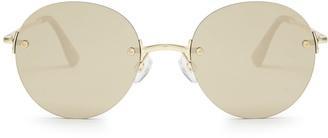 LE SPECS Bodoozle round-frame sunglasses $60 thestylecure.com