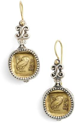 Konstantino 'Athena Owl' Drop Earrings