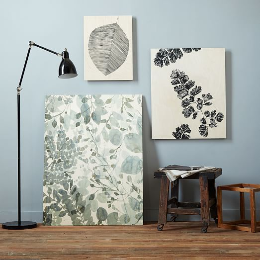 west elm Botanical + Birch Wall Art – Multi Botanical