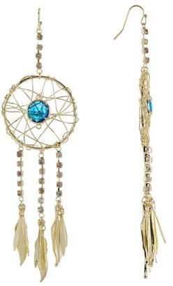 Sapanyu Swiss Blue Quartz & Austrian Crystal Dream Catcher Earrings