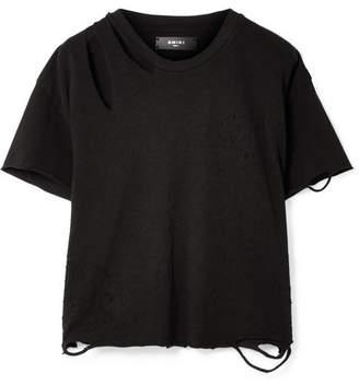 Amiri Slash 仿旧纯棉平纹针织 T 恤