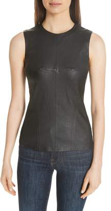 Theory Seamed Leather Shell