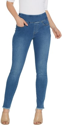 Belle By Kim Gravel Belle by Kim Gravel TripleLuxe Denim Frayed Jeggings Petite