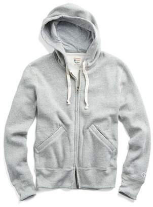 Todd Snyder + Champion Classic Full Zip Hoodie in Light Grey Mix