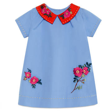 Baby cotton dress with embroidery $385 thestylecure.com