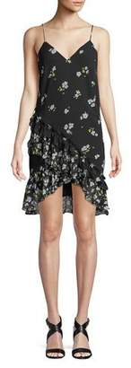 Bardot V-Neck Sleeveless Ditsy-Floral Dress
