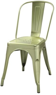 ACME Furniture ACME Jakia Metal Side Chair in Brass Finish, Set of 2