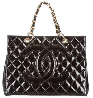 Pre Owned At Therealreal Chanel Quilted Patent Leather Tote
