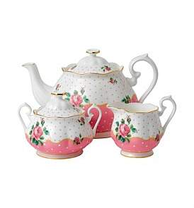 Royal Albert Cheeky Pink Teapot/Sugar/Cream Set