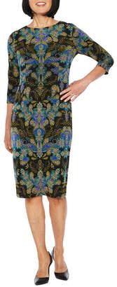 Liz Claiborne 3/4 Sleeve Sheath Dress