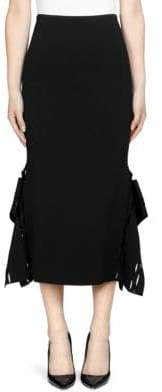 Roland Mouret Felthorpe Cut-Out Midi Skirt