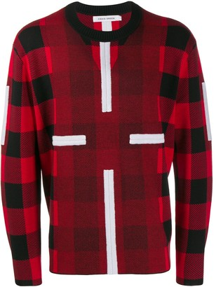 Craig Green round-neck plaid jumper