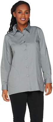 Joan Rivers Classics Collection Joan Rivers Girlfriend Shirt with Silky Chiffon Back