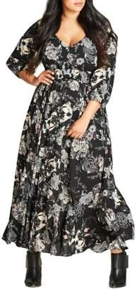 City Chic Floral Maxi Dress