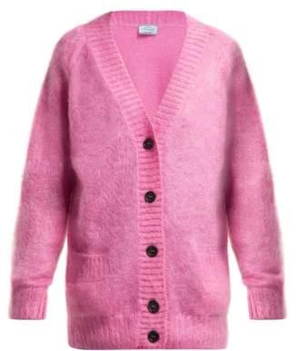 Prada Mohair Blend Cardigan - Womens - Pink