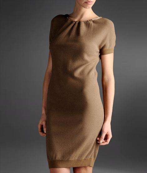 Emporio Armani knit dress with V neck at the back