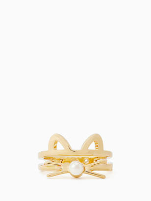 Kate Spade Out west cat ring