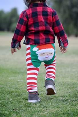 Doodle Pants Santa Striped Pants (Baby)