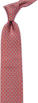Salvatore Ferragamo Pink Bear Silk Tie