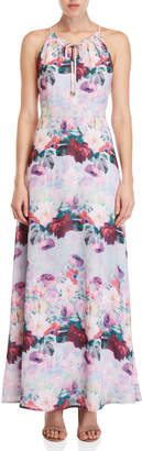 Yumi Watercolor Rose Maxi Dress