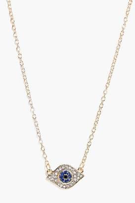 boohoo Evil Eye Pendant Necklace