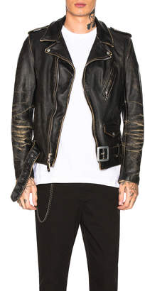 Schott Vintage Fitted Motorcycle Jacket