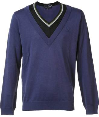 Fred Perry contrast neck jumper