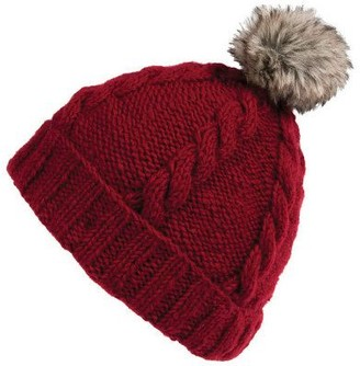 Nirvanna Designs Rope Beanie with Pom and Fleece