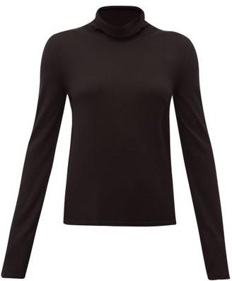 The Row Margita Roll Neck Silk Sweater - Womens - Black