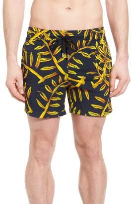 Vilebrequin Superflex Gold Palms Print Swim Trunks