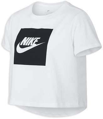 Nike Girls' Logo-Print Crop Tee - Big Kid