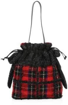 Simone Rocha Patchwork Tartan Drawstring Bag