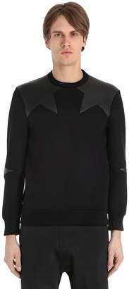 Neil Barrett Intarsia Neoprene Sweatshirt