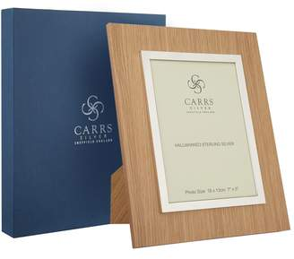 "Carrs of Sheffield Silver Oak Boardered Photo Frame (7""x5"")"