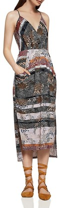 BCBGeneration Abstract Dot Faux Wrap Midi Dress $88 thestylecure.com