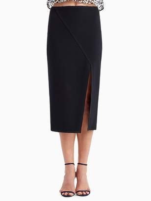Compact Crepe Pencil Skirt with Side Slit