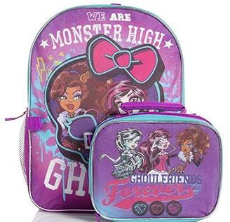 Monster High Unknown Ghoulfriends Forever Girls Backpack and Lunch Tote Bag