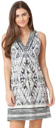 Hale Bob Quinby Sleeveless Microfiber Dress
