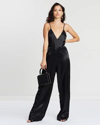 Missguided Silky Cargo Cami Jumpsuit