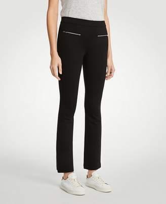Ann Taylor Petite Zip Pocket Kick Crop Leggings