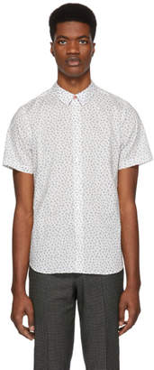 Paul Smith White Floral Slim Shirt