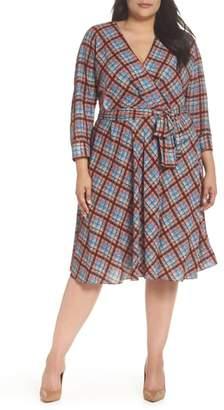 Eliza J Faux Wrap Shirtdress