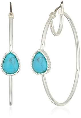 Nine West Women's Silver-Tone and Hoop Earrings