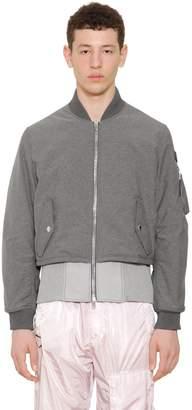 Givenchy Chambray Effect Nylon Bomber Jacket