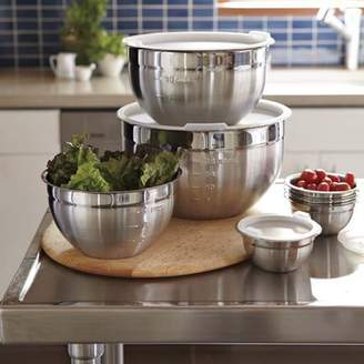 Williams-Sonoma Williams Sonoma Stainless-Steel Mixing Bowls with Lids, Set of 3