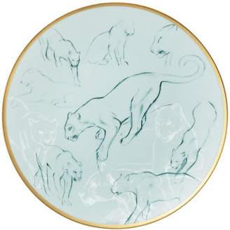 Hermes Felines Carnets d'Equateur Bread & Butter Plate