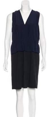 Marni Sleeveless Mini Dress Blue Sleeveless Mini Dress
